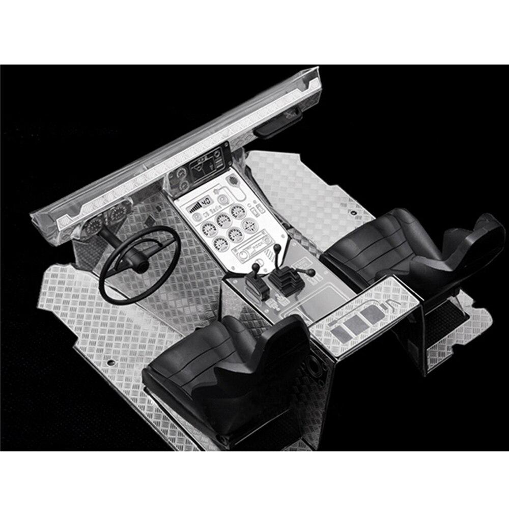 1 Unidades Metal tablero y suelo protector placa para AXIAL WRAITH 90018 90020 RC coche piezas interiores para Specter escalada Coche