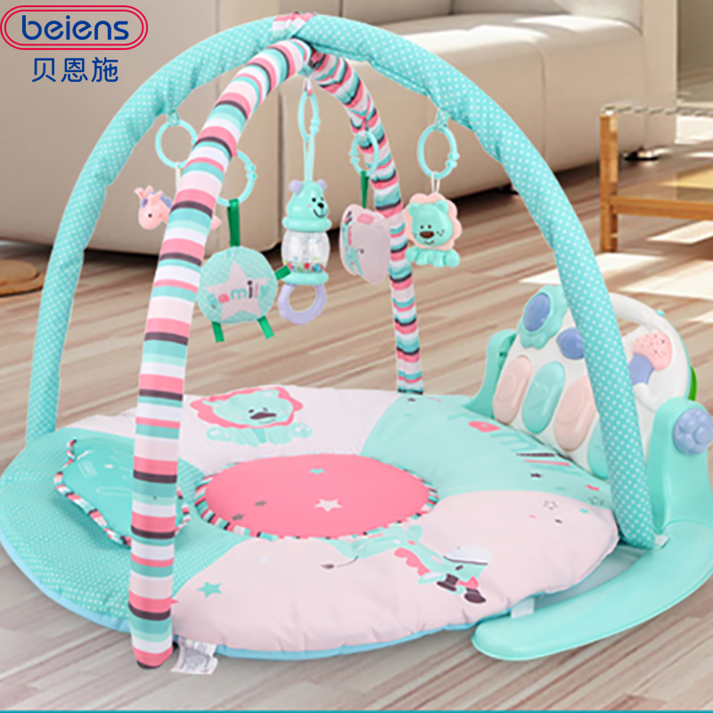 Beiens Mat Children Play Mats for Kids Developmental Crawling Pad Educational Child Carpet Musical Baby Toys with remote control actionclub 0 2year baby toy baby play mat game boys girls educational crawling mat play gym kids blanket carpet