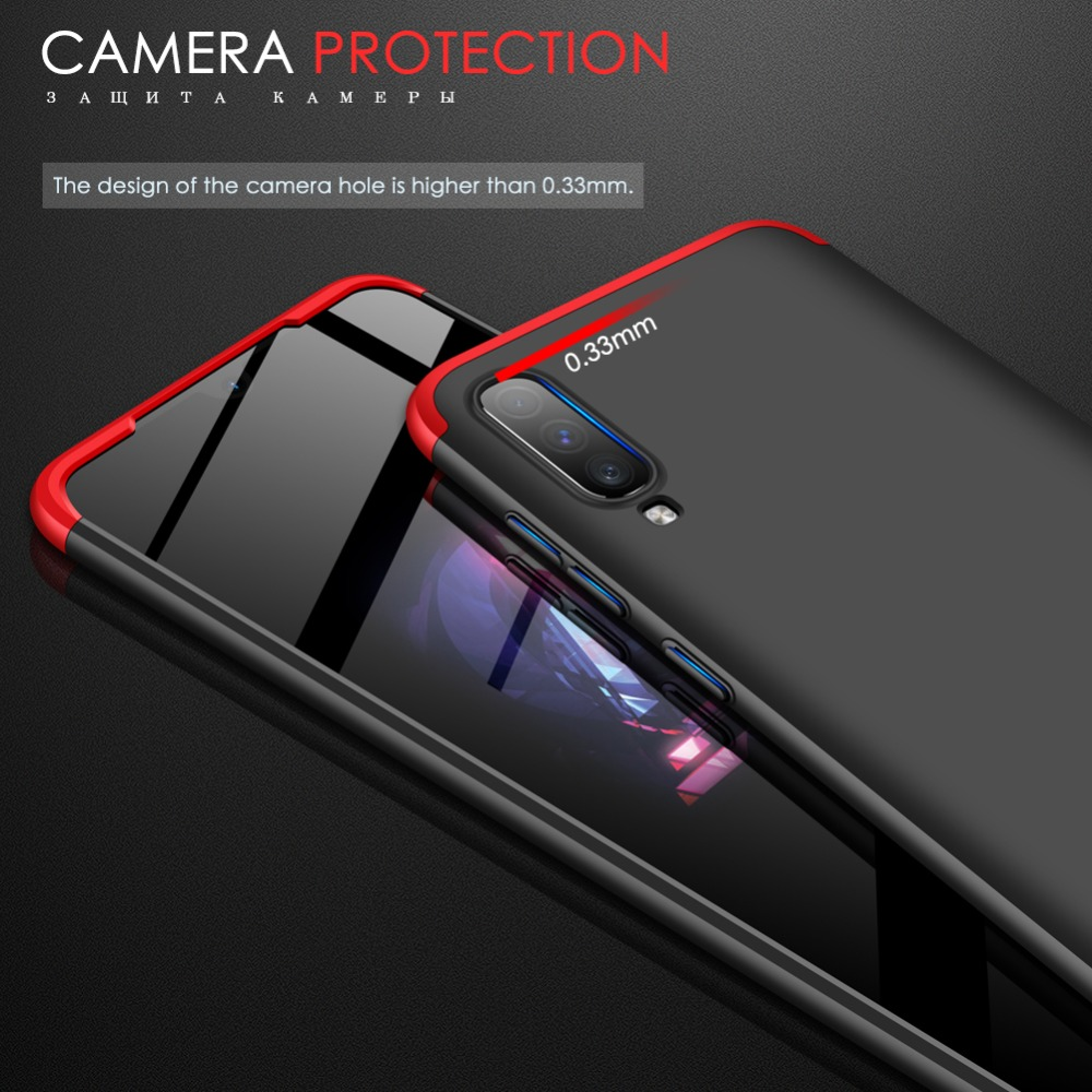 GKK Case for Samsung Galaxy A50 A60 A70 Case 3 in 1 Armor 360 Hard PC Matte Back Cover for Samsung A50 A60 A70 Case Coque Fundas in Fitted Cases from Cellphones Telecommunications