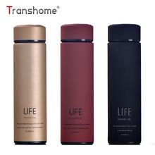 Transhome rustfrit stål termisk kop 500 ml te krus med silke termo mug thermos kaffe kop rustfrit stål termiske flasker