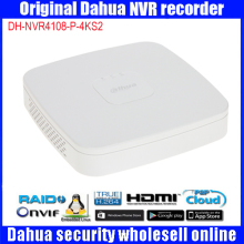Original egnlish version Dahua DH-NVR4108-P-4KS2 replace NVR4108-P POE 8ch 1U smart NVR 4PoE video recorder