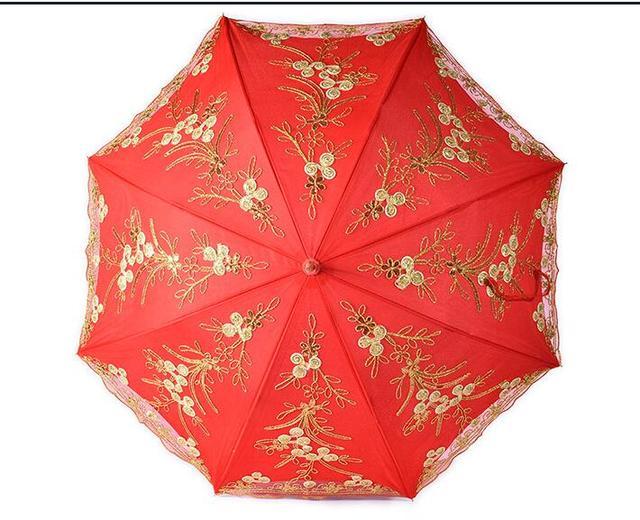 7eed99d7a645 10 pz forniture celebrazione del Matrimonio ombrellone ombrello rosso ombrello  da sposa in pizzo sposa decorazione