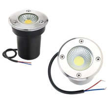 IP68 3W 5W 10W COB LED impermeable LED luz subterránea terreno de exterior jardín piso enterrado patio lugar paisaje AC110V220V DC12V(China)