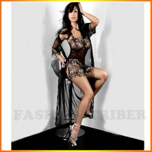 Camison Sexy Mujer Sale Full Slip Good Temptation Sexy Lingerie Lace Thong Strap Transparent 3 Piece
