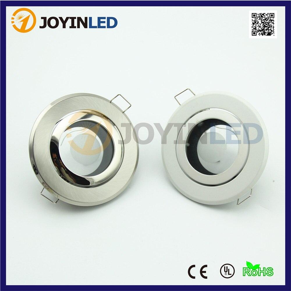 Gu10 Led Ceiling Light Fixture: Down Light Fixture Frame Gu10 Mr16 Bulb Socket Recessed
