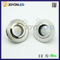 Down light fixture frame gu10 mr16 Bulb socket recessed LED Ceiling lamp holder circle satin fitting