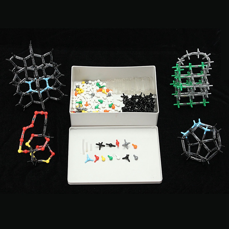 643pcs set Organic Chemistry Scientific Polymer Atom Molecular Model Teach Class Kit Set Crystal Structure Model