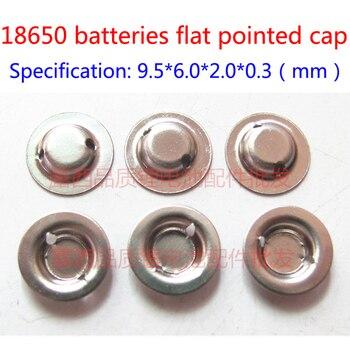 100pcs/lot Wholesale 18650 Lithium Battery Anode Cap Steel Spot Welding Tip Cap 18650 Batteries Flat To Pointy Hat wholesale 100pcs lot new original saft ls 14250 ls14250 1 2 aa 1 2aa 3 6v 1250mah lithium battery plc batteries with pins