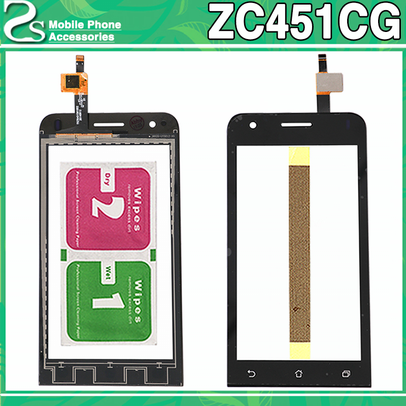 New ZC451CG Touch Screen For Asus Zenfone C ZC451CG Z007 Display Digitizer Touch Sensor Glass Panel Adhesive
