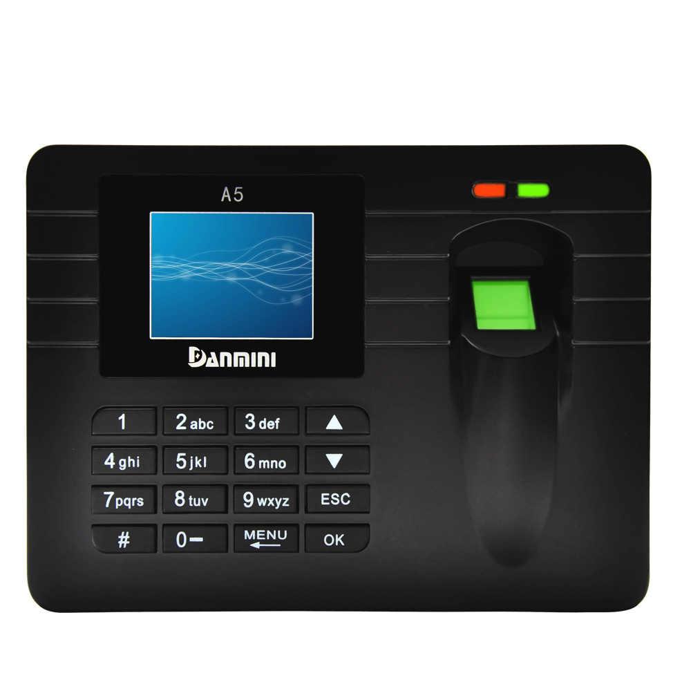 """2.4 """"wyświetlacz TFT LCD biometryczny linii papilarnych maszyna obsługująca DC 5 V/1A czas nagrywarka zegarowa pracownik w czytnik a5"""