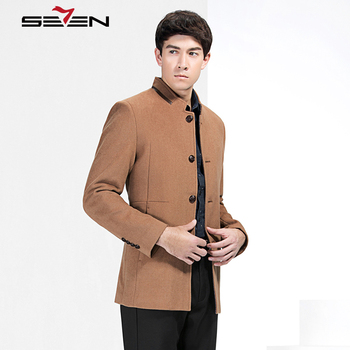Seven7 Brand High Quality Men Coat Winter Jackets Men's Outwear Long Jackets Coat Fashion Male Casual Trench Single Button