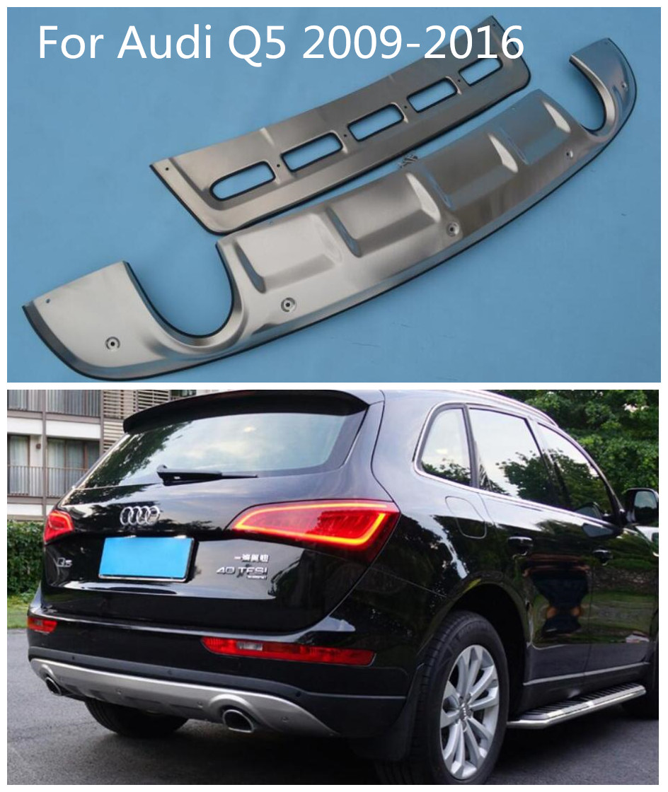 Stainless Steel Rear Bumper Protector Sill Plate Cover Fit For Audi Q5 2009-2017 Auto Parts & Accessories Car & Truck Parts