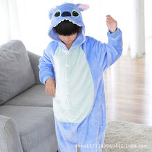 Kids Kigurumi Stitch Blanket Overalls Jumpsuit Pijama Infantil Kids Children Animal Kigurumi Onesie Stitched Dinosaur Pink Pig