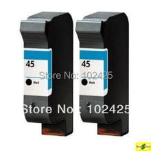 2Pcs For HP 45 Ink Cartridge 51645A For HP Deskjet 8200 850C 870C 880 890 930 950 935 952 755 Printer