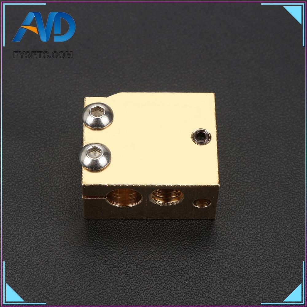 High Temperature H59 Copper Volcano Heater Block For E3D HOTEND Compatible PT100 Thermistor Cartridge Sensor V6 Hot