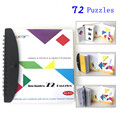 72 puzzles magnetic Tangram kids toys challenge your IQ a Montessori educational magic book suit for 3-100 years old