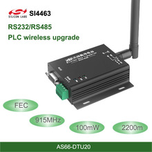 RS485 RS232 Interface SI4463 915MHz wireless DTU Transceiver 2.2km FEC Wireless uhf Module 915Mhz rf Transmitter and Receiver