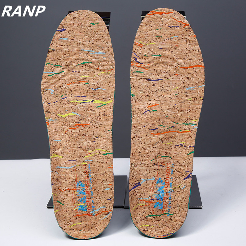 Italy Oak Cork Orthopedic Insoles Flat Foot Arch Support Anti-Slip Breathable Deodorant Foot Massage Orthopedic Shoe Accessoires майка классическая printio марио mario