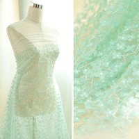 1Meter 3D Lace Fabric High Quality Embroidered Laces Fabrics Nigeria African Lace Flowers For Lady Dress 2018