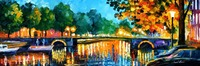 beautiful Painting Home Decor amsterdam early morning Colorful oil paintings Canvas Modern Fine Art High quality Hand painted