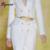 Bqueen Hojas De Metal de Las Mujeres Vestido Delgado del Estiramiento Elástico de la Señora de Cadenas en la Cintura