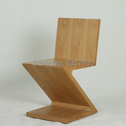 Free Shipping   Zig Zag Chair,Wood Dinging Chair,Z Chair,Real Photos