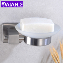 Bathroom Soap holder Shower Stainless Steel Soap Dish Storage Holder Toilet Wall Mounted Glass Soap Dishes Box Bath Accessories все цены