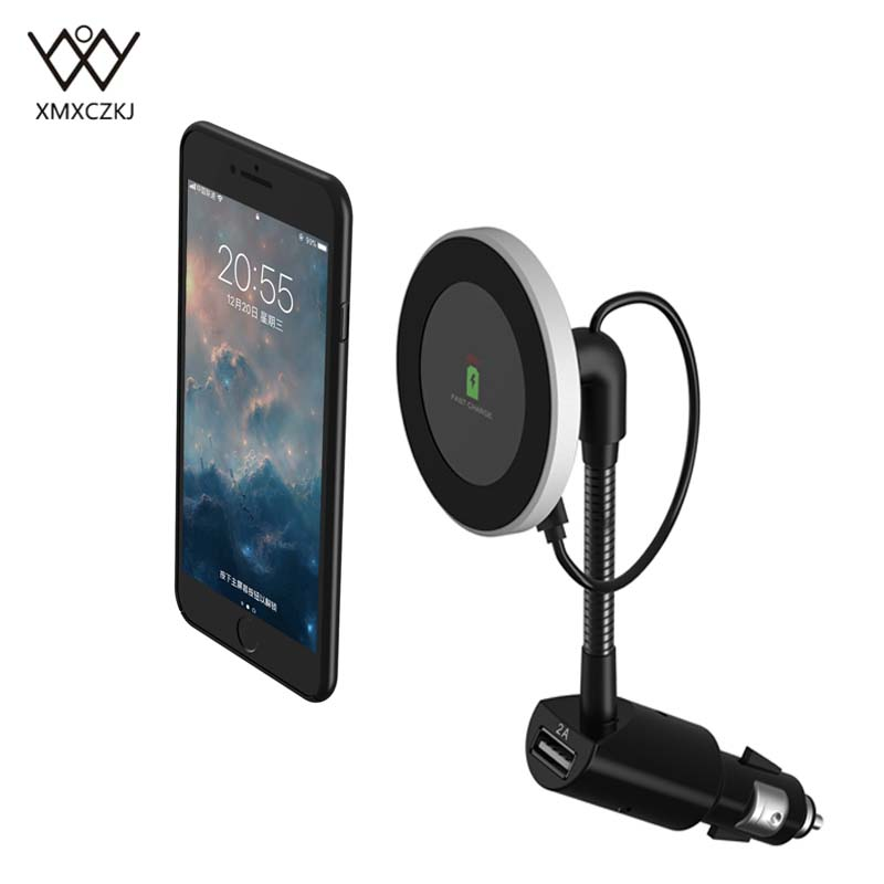 US $18.47 23% OFF|Qi Wireless Car Charger Magnetic Mount Holder For iPhone X 8 Samsung Note 8 S8 Car holder Wireless Charging Mobile Phone
