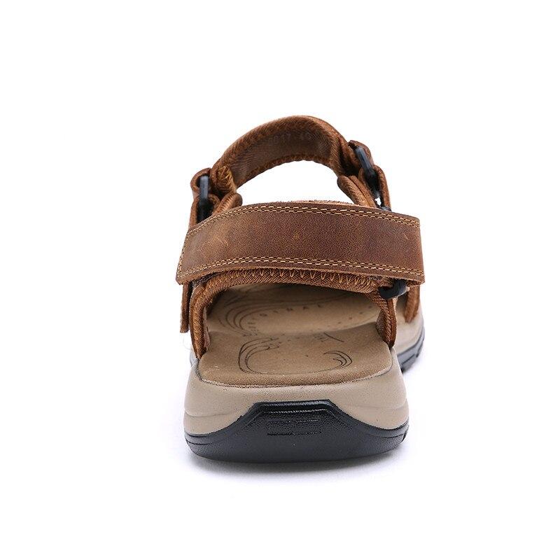 Verão Sapatos De 2018 khaki Tamanho Homens Couro Sandálias 45 Grande Qualidade Dos Brown yellow Light Alta 38 Brown Macio dark n4pxvEwPpq