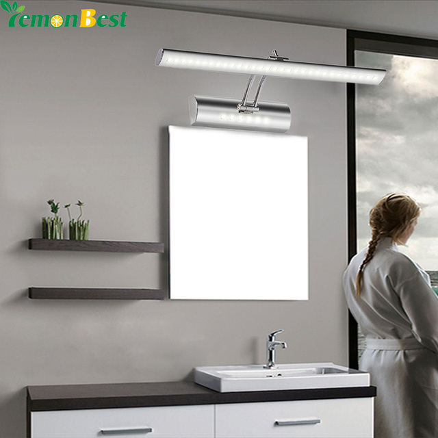 7W 55CM Bathroom Led Mirror Front Light LED Stainless Steel Wall ...