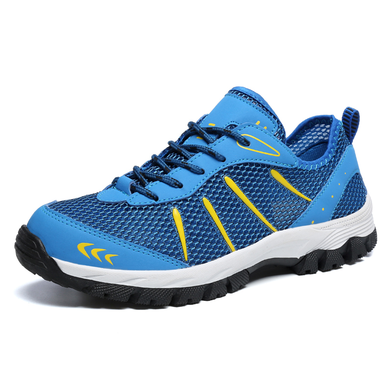 RUIFF Four seasons outdoor hiking shoes breathable mesh non-slip wear-resistant lace-up large size casual sneakers men's shoes