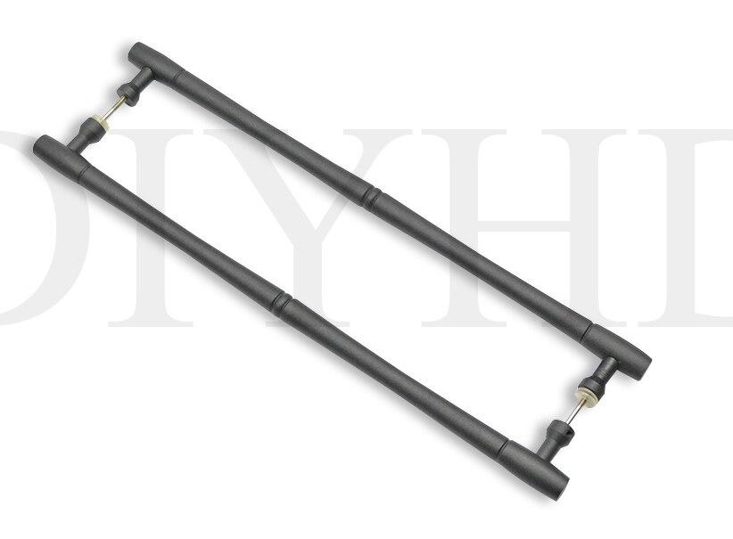 DIYHD 20 rustico nero fienile porta in legno handle pull maniglia solida barDIYHD 20 rustico nero fienile porta in legno handle pull maniglia solida bar
