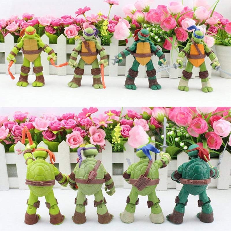 5sets/lot TMNT <font><b>Teenage</b></font> <font><b>Mutant</b></font> <font><b>Ninja</b></font> <font><b>Turtles</b></font> <font><b>Ninja</b></font> PVC Action Figure Toy <font><b>Ninja</b></font> <font><b>Turtles</b></font> Toys 12cm Approx