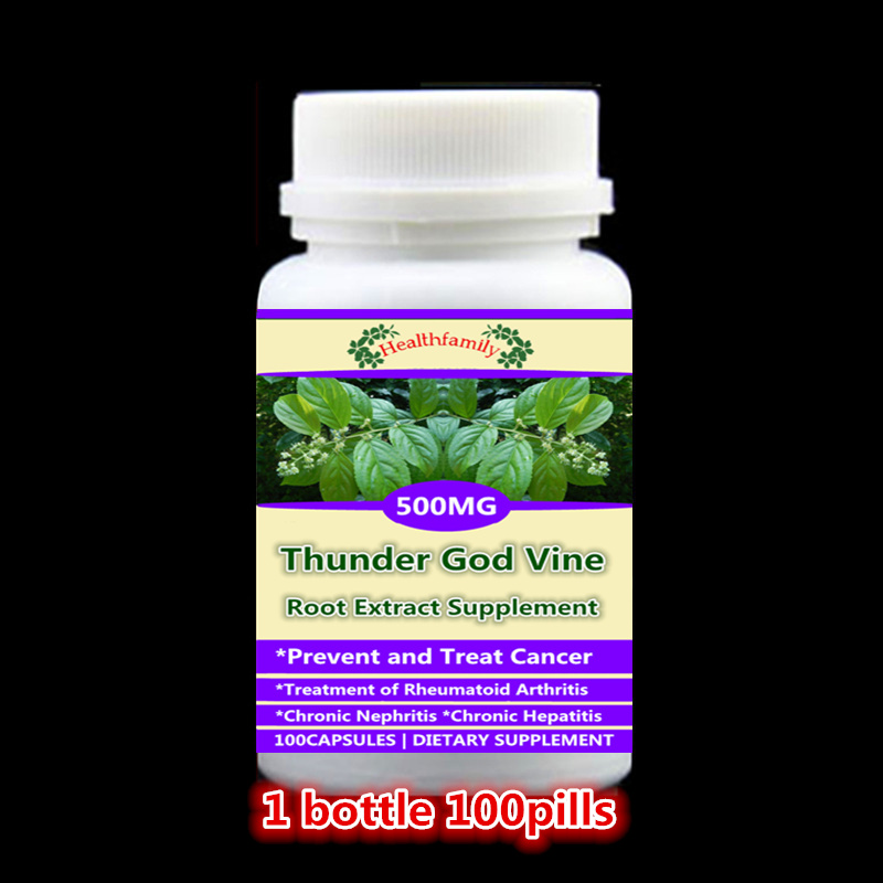 Thunder God Vine Extract Lei Gong Teng,Prevent and Anti cancer,rheumatoid arthritis,chronic nephritis & hepatitis, 100pcs/bottle viruses cell transformation and cancer 5