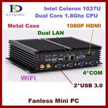 Тонкий Клиент Облако компьютер, Промышленный, 4 ГБ RAM 128 ГБ SSD, Intel Celeron 1037U, Dual core CPU, 2*1000 M LAN, 4 * COM, 2 * USB 3.0, Wi-Fi, HDMI