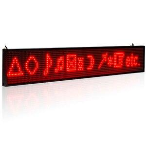 Image 4 - 26 zoll P5 SMD LED ZEICHEN Rotes Scrollen Werbung Nachricht Led anzeige Bord
