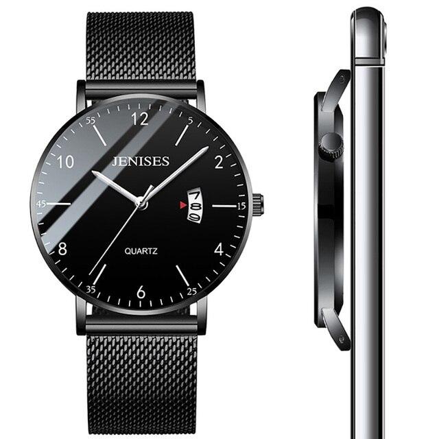 debd4c7451e Homem Ultra Fino Relógio de Pulso 2019 Relógios dos homens Marca de Luxo  Relógio Masculino Negócios