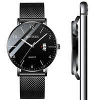 Man Ultra Thin Wrist Watch 2019 Men's Watches Luxury Brand Male Clock Business Quartz Wristwatch Watch For Men Relogio Masculino