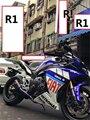 Motocicleta curto titânio escape YZF R1 Akrapovic motocicleta tubo de escape gp