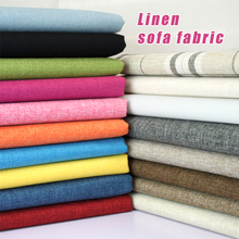 Coated Linen Fabric Sofa Cushion Fabirc DIY Craft Sewing Cloth Outdoor Blend Upholstery 58 wide -Per yard
