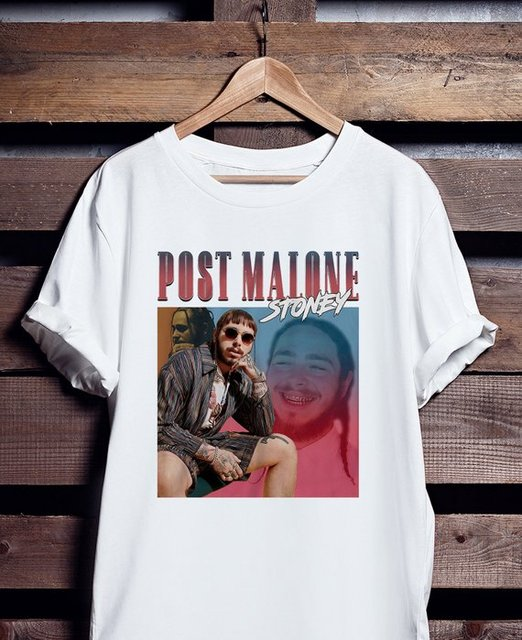 Hip Hop Rapper Post Malone T Shirt Fashion Summer Short Sleeve T Shirt Men  Brand Clothing Male T-shirt Print Men Clothing f4cda08ed