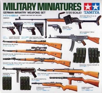 TAMIYA 35111 1/35 Scale  Military Miniatures German Infantry Weapons Set