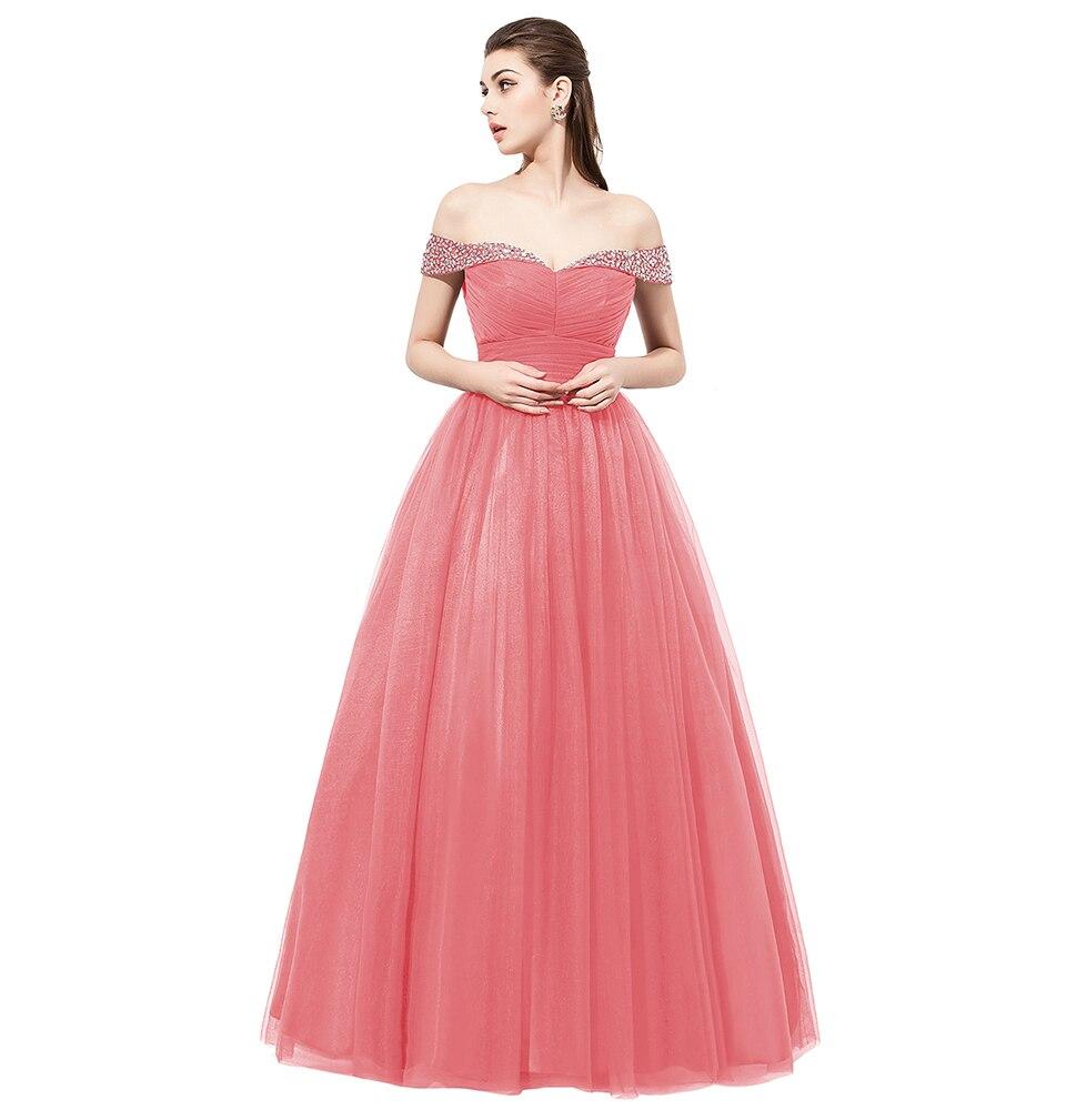 ⊹Berylove long Burgundy prom dresses 2018 fuera del hombro ...