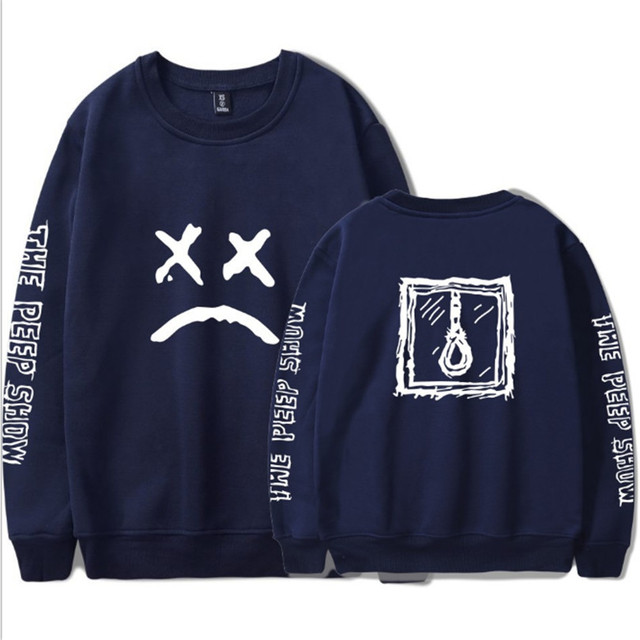 Lil Peep Sweatshirts Fashion Loose Unisex Hoodies Sweatshirt Harajuku Long Sleeve Cotton Oversized Streetwear Hoodies Lil Peep