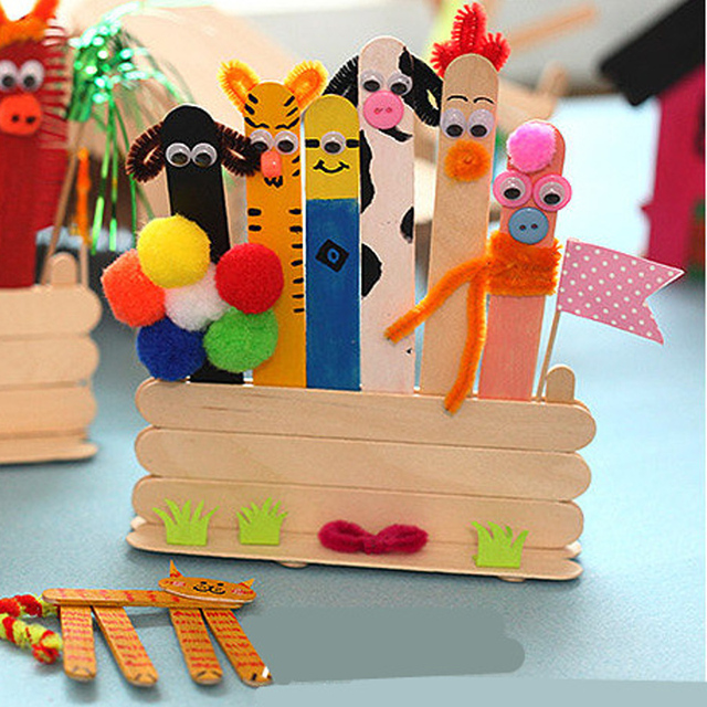 50 Pieces Wooden Craft Sticks