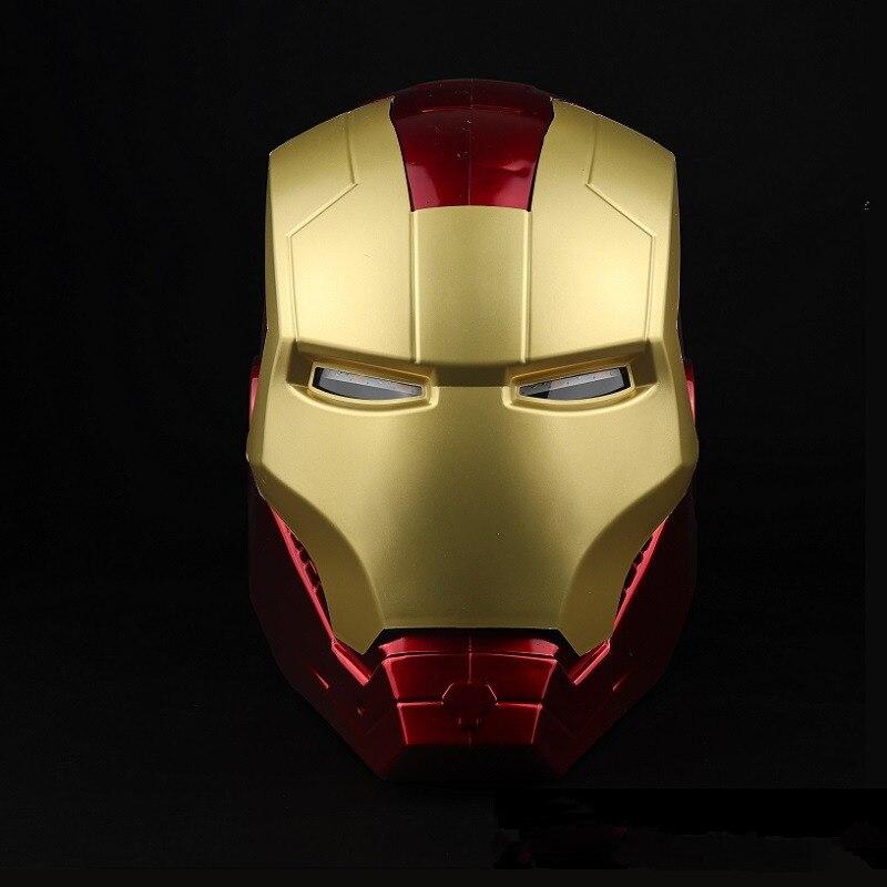 2019 New Marvel Avengers Endgame Iron Man Cosplay Mask Tony Stark PVC Masks Full Face LED Helmet Halloween Party Carnival Props