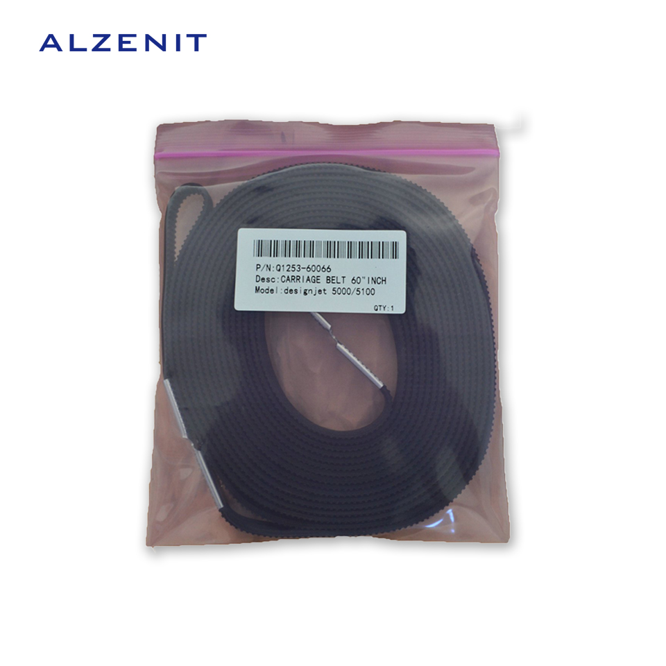 ALZENIT For HP Designjet 5000 5100 OEM New Carriage Belt 60 inch Q1253-60066 C6095-60183 Plotter Printer Parts On Sale high quantity carriage belt for hp designjet 5000 5100 5500 b0 42inch