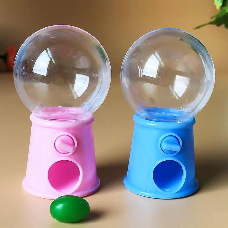 뜨거운 새로운 귀여운 과자 미니 캔디 기계 거품 Gumball 디스펜서 장난감 크리스마스 선물 어린이위한 어린이위한 장난감