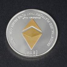 Золото/серебро эфириум монета Реплика художественная коллекция подарок физический Металл антикварная имитация невалютная копия коллекционные монеты