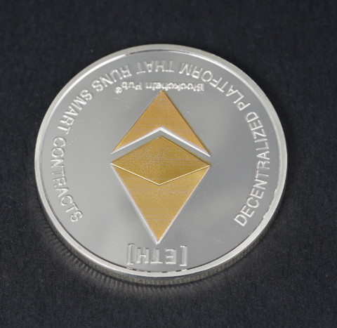 Gold/Silver Ethereum Coin Replica Art Collection Gift Physical Metal Antique Imitation Non-currency Copy Coins Collectibles